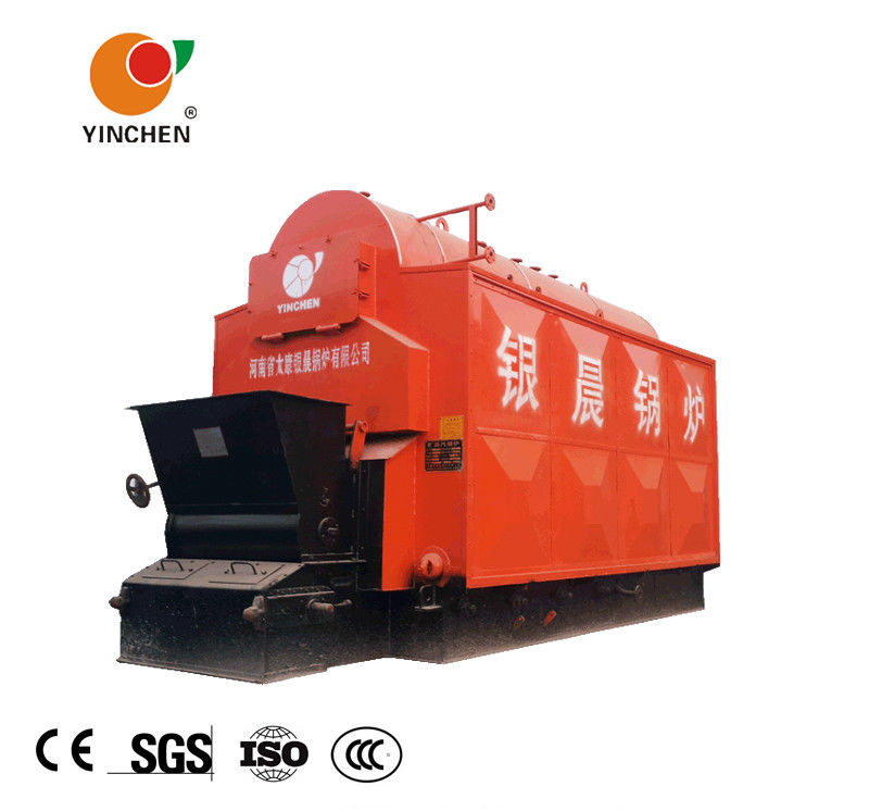 Coal Fired Chain Grate Stoker Boiler 184-194 ℃ Steam Temperature Customized