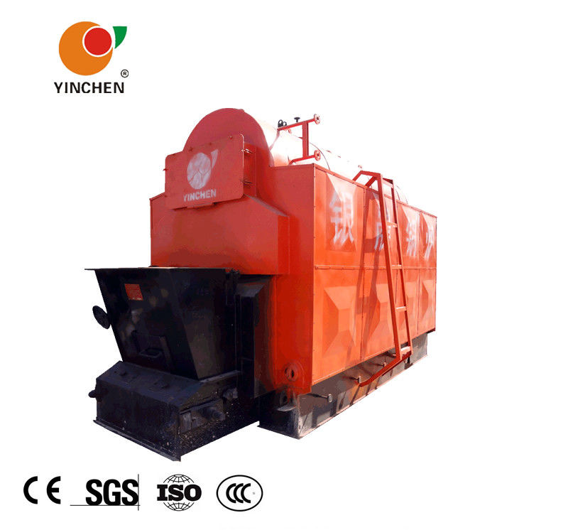 Horizontal Biomass Fired Steam Boiler , Wood Fired Hot Water Boiler 1-20 T/H Rated Output
