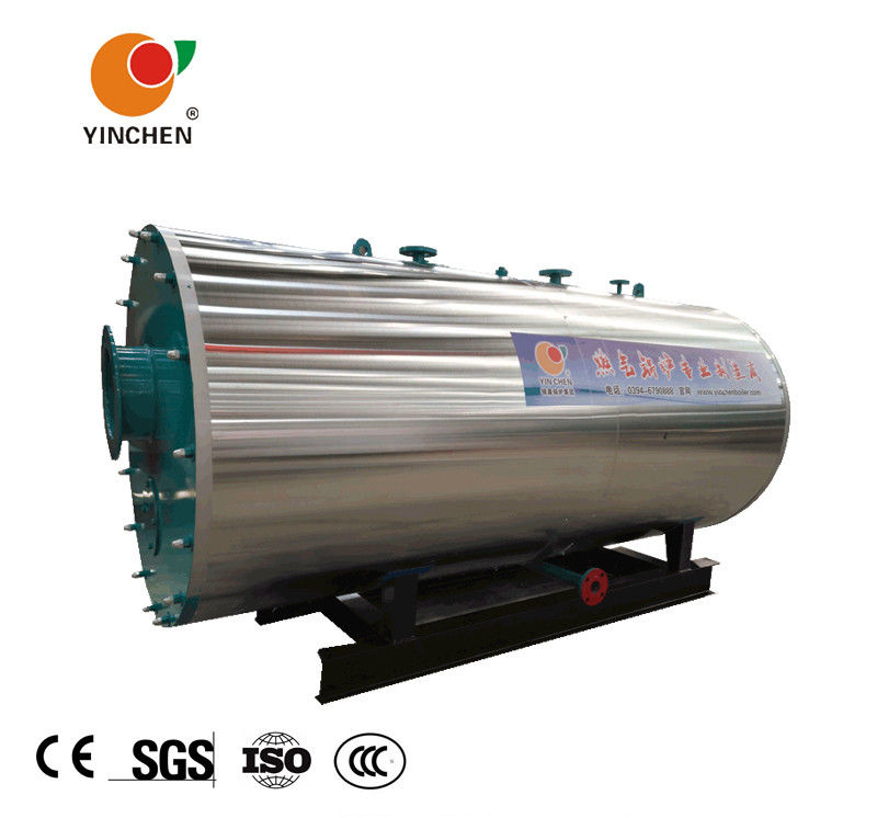 Oil Gas Fuel 3 Pass Smoke Tube Boiler , Industrial Gas Boiler Compact Structure