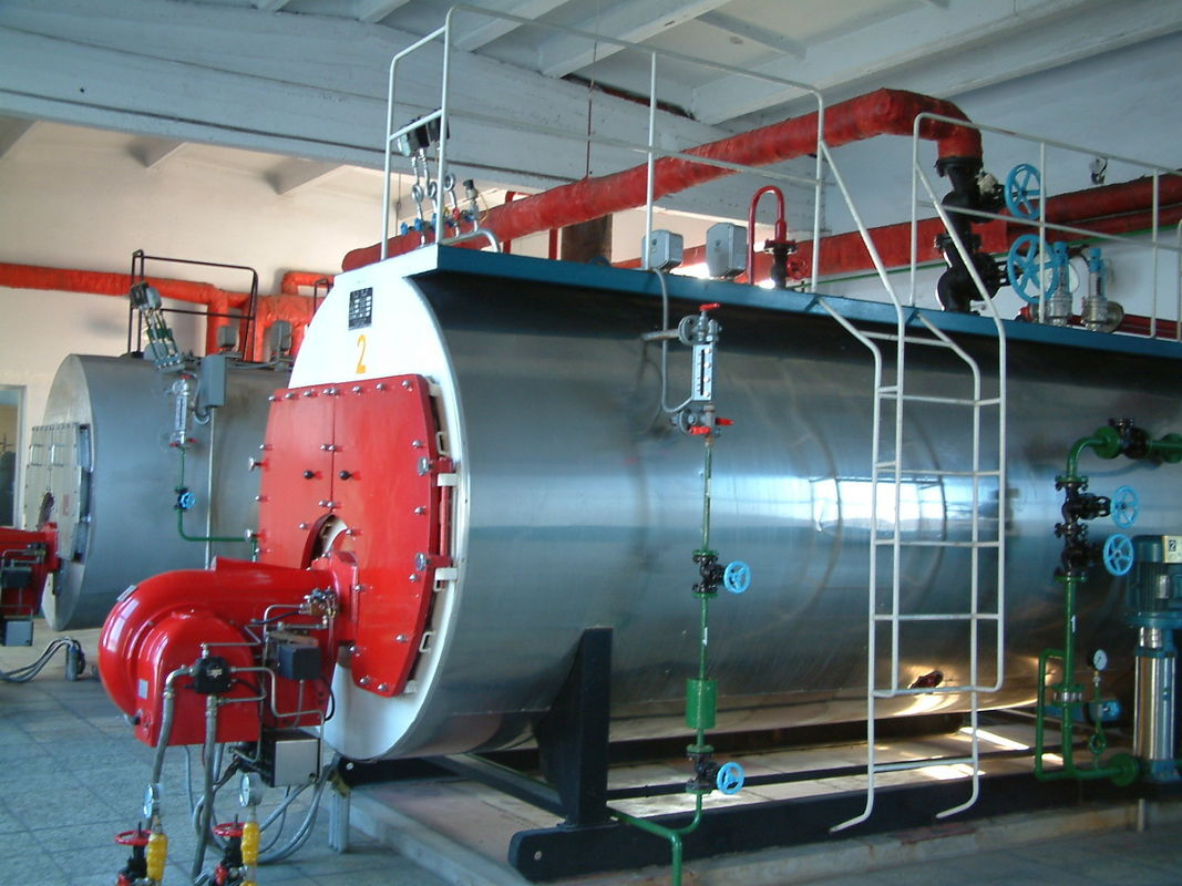 Corrugated Furnace Oil Fired Steam Boiler , High Efficiency Natural Gas Steam Boiler