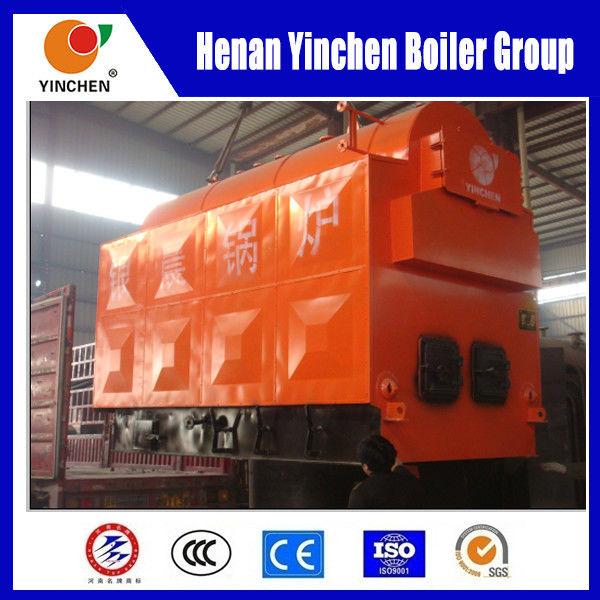 Wood Or Coal Fired Steam Boiler , Moving Grate Boiler 0.7 -1.25 Mpa Pressure
